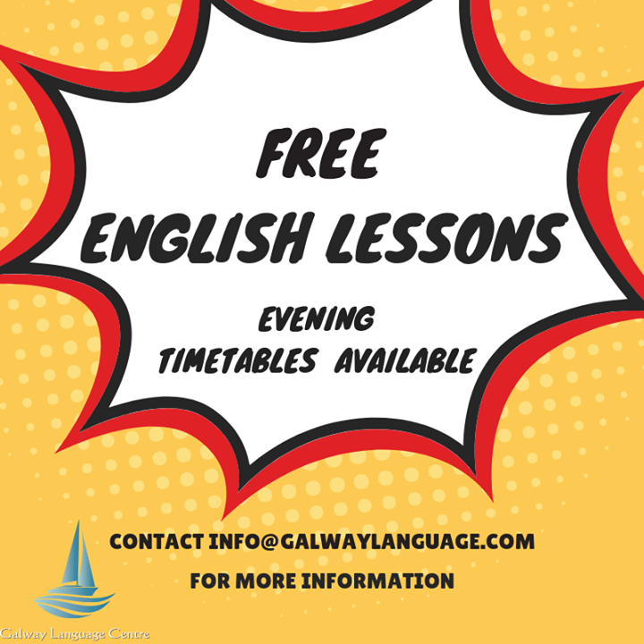Free evening English lessons available on Tuesday 13th November @18.30. Three levels are on offer - Pre - Intermediate, Intermediate & Upper Intermediate! Take advantage of them and join for free!!! Spread the word and share this post with your friends!